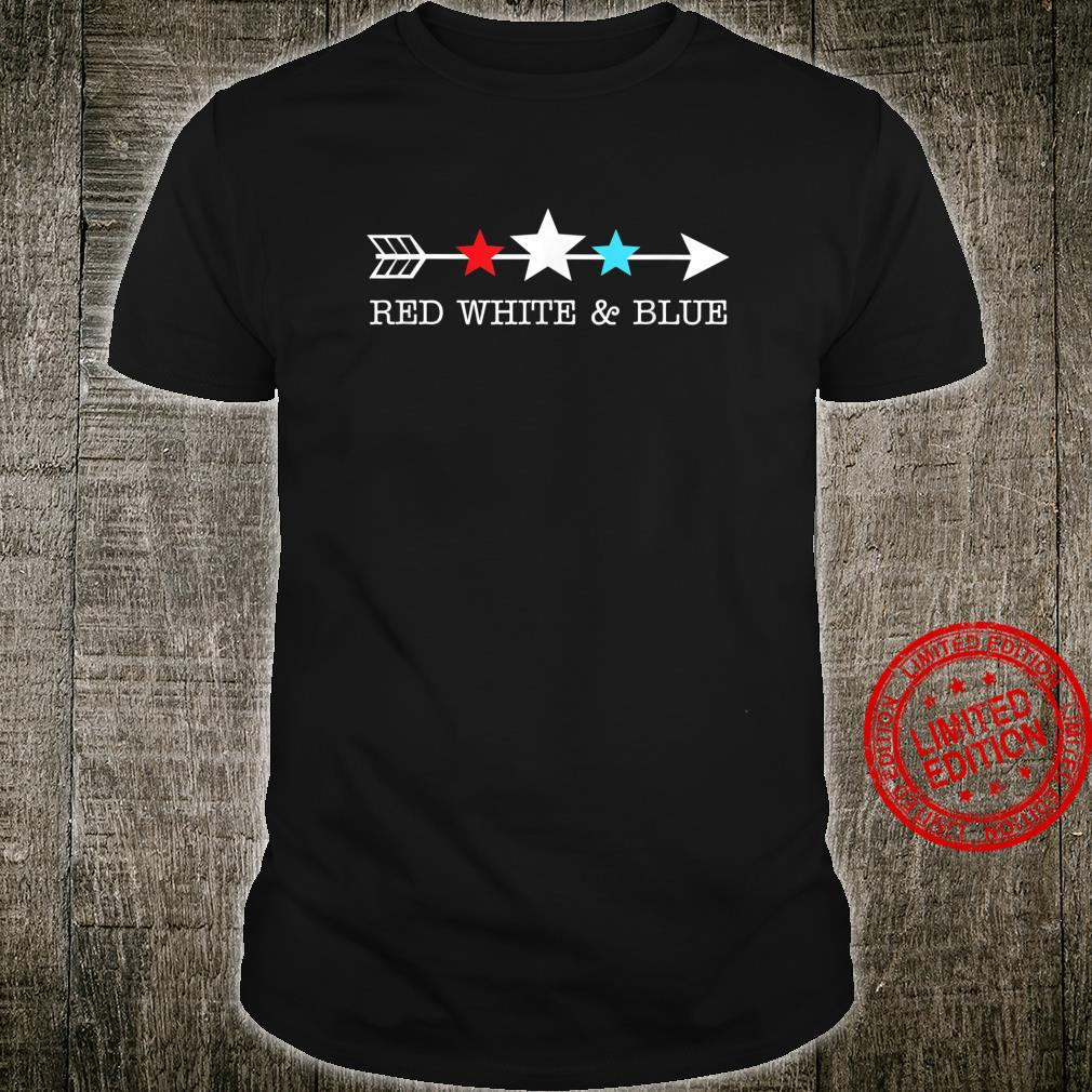 4th of July Arrow Stars Shirt Red White & Blue Shirt