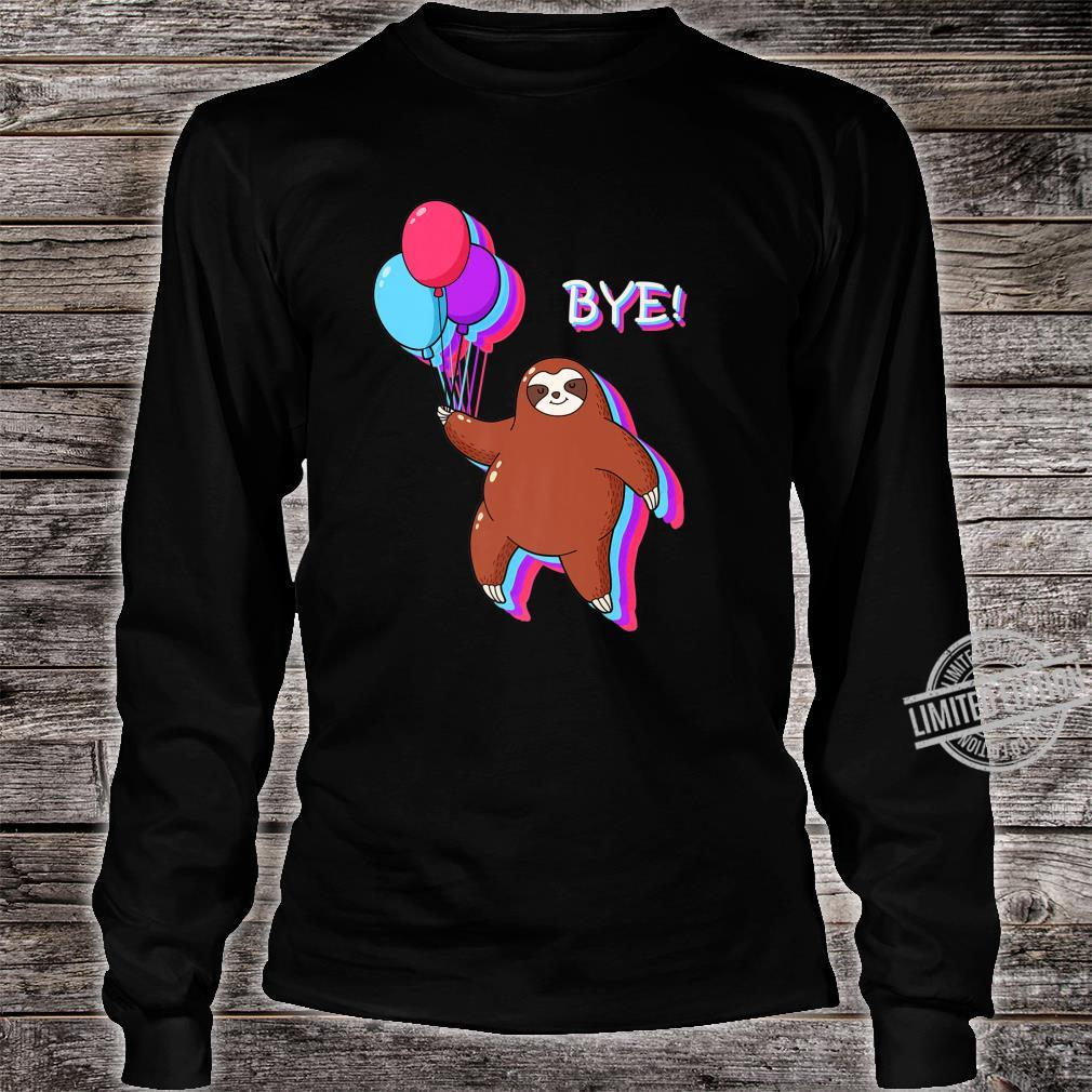 Bye Sloth Floating Away from 2020 Shirt long sleeved