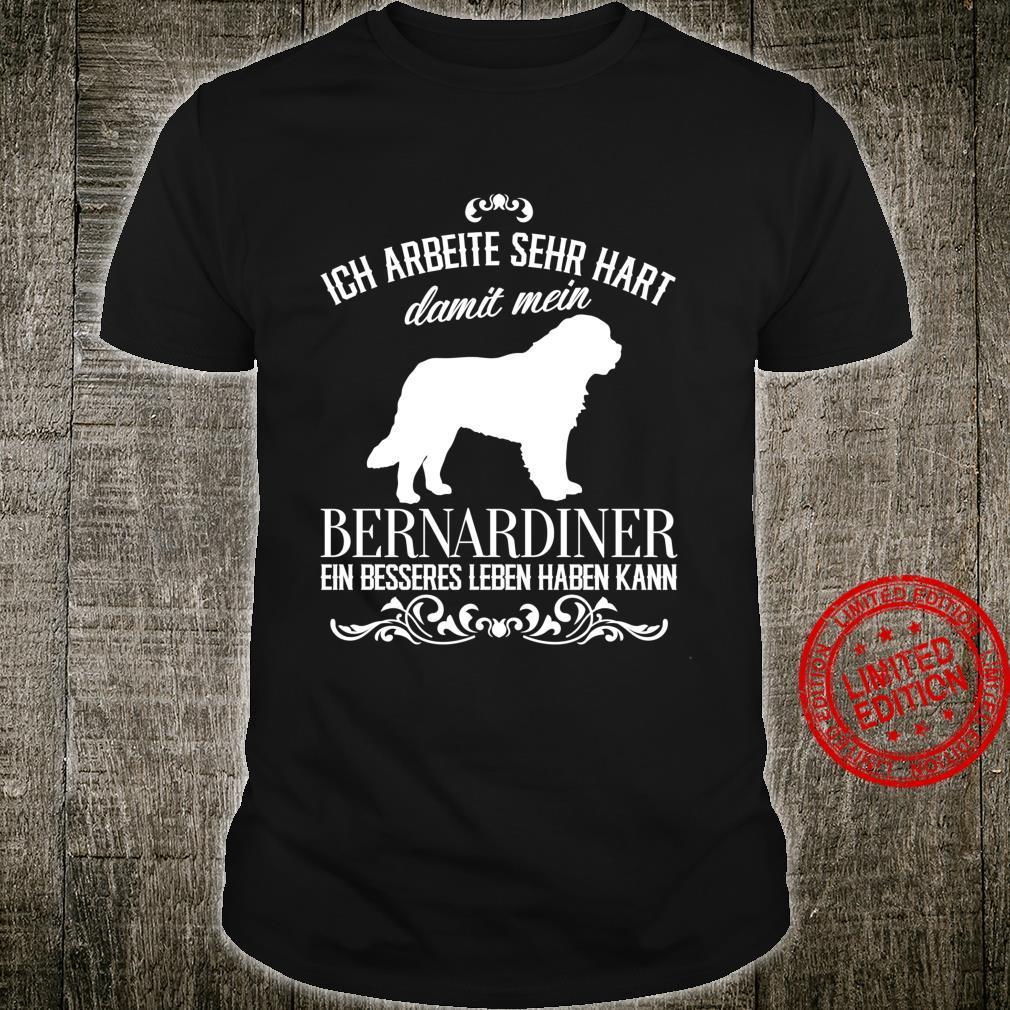 Ich arbeite sehr hart..., Hunde, lustiges Bernhardiner Langarmshirt Shirt