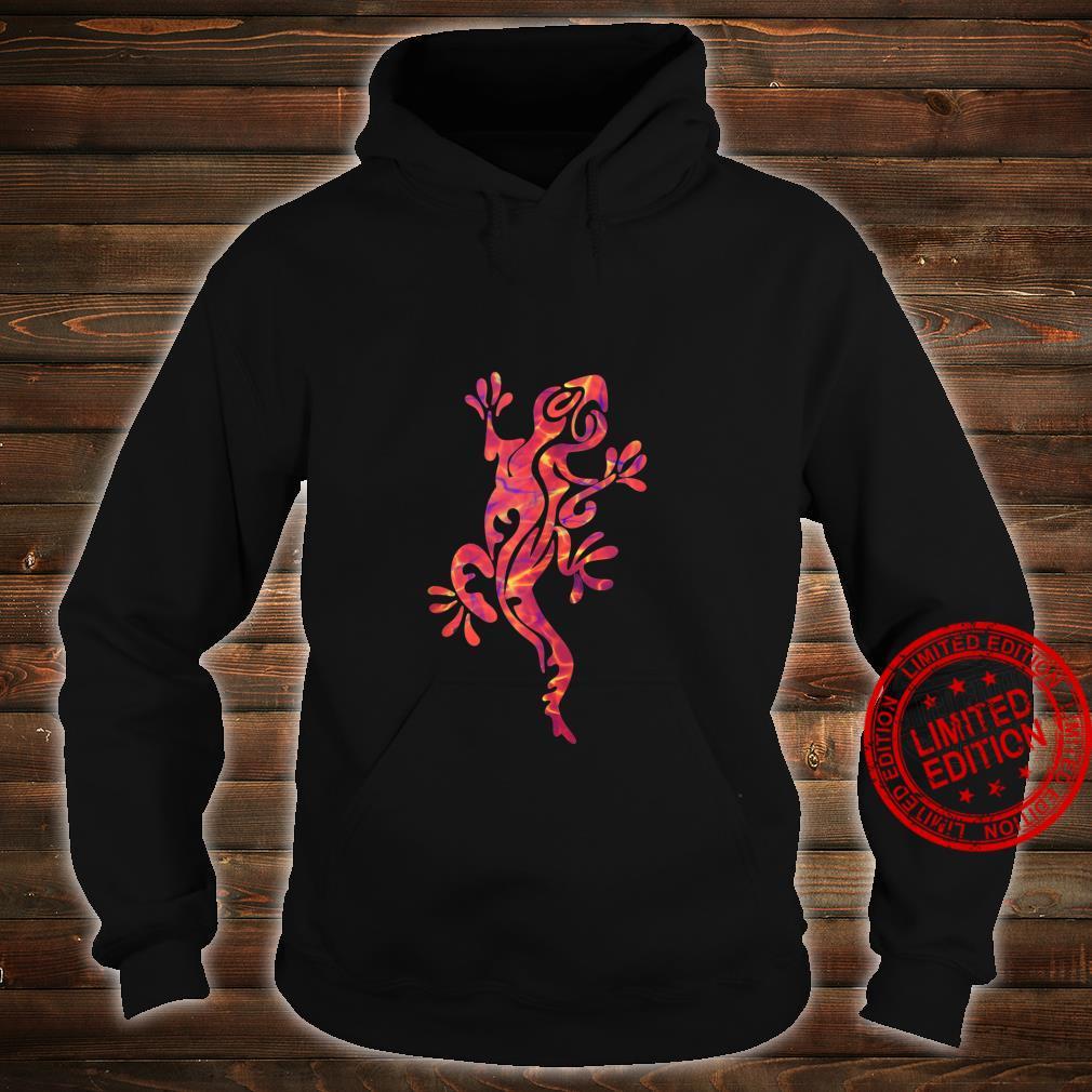Lizard Salamander Gecko Multicolored Tribal Art Shirt hoodie