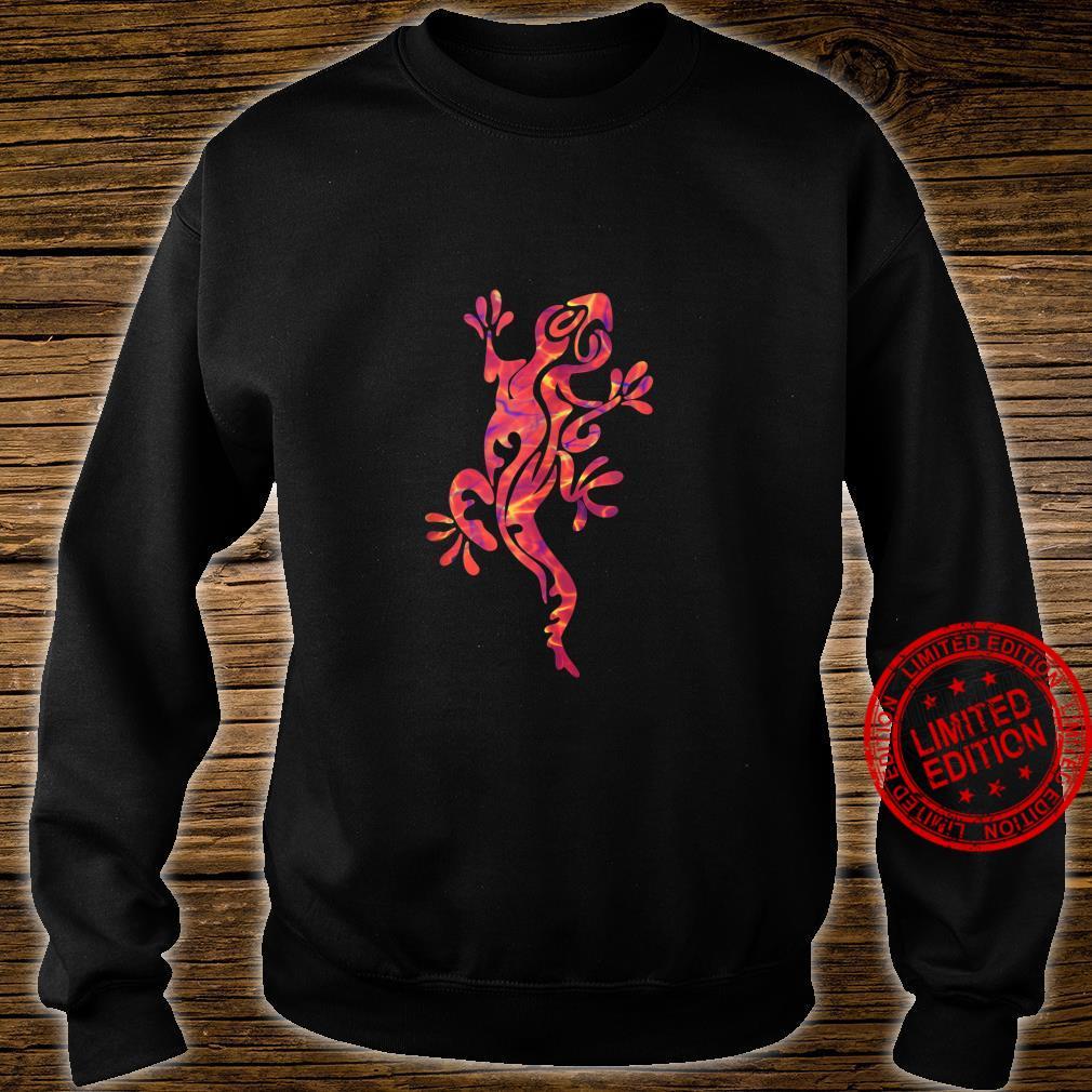 Lizard Salamander Gecko Multicolored Tribal Art Shirt sweater