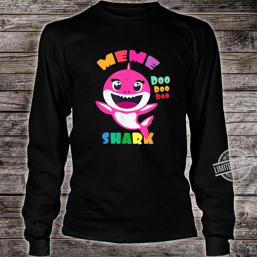 Meme Shark Shirt Mothers Day Mom Shirt long sleeved