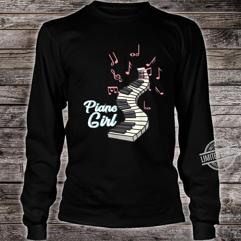 Piano Musician Girl Pink Cute Concert Hall Shirt long sleeved