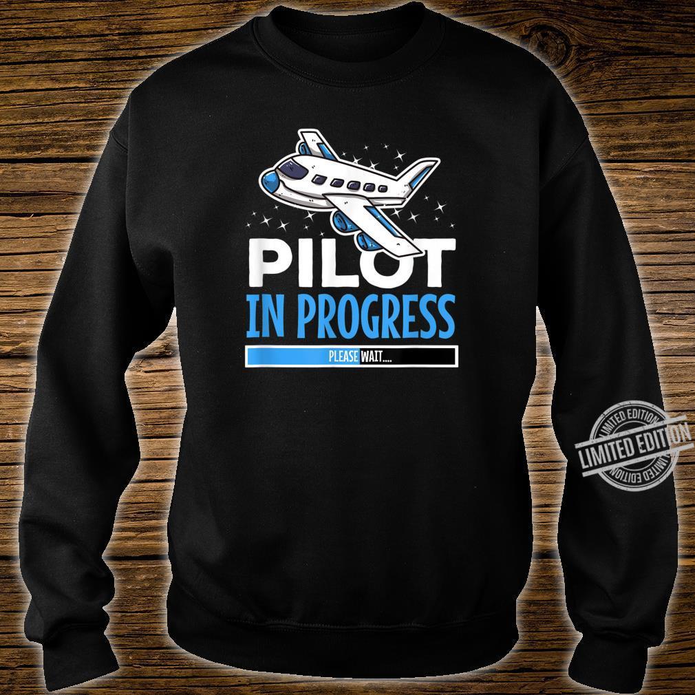 Pilot in Progress für Flugschüler Shirt sweater