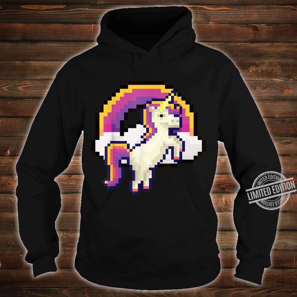 Pixeliges Einhorn mit Regenbogen Pixel 8 bit Gamer Geschenk Shirt hoodie