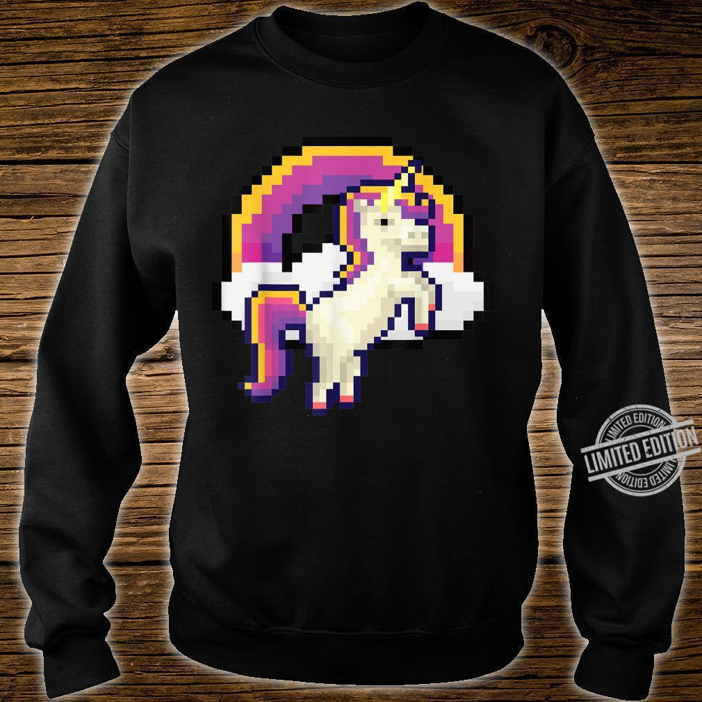 Pixeliges Einhorn mit Regenbogen Pixel 8 bit Gamer Geschenk Shirt sweater
