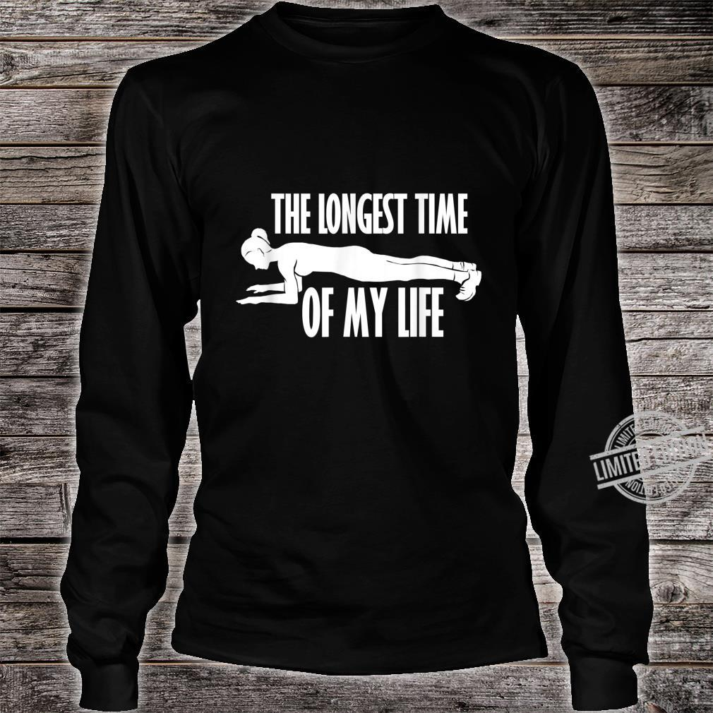 Planking Abs Workout Cardio Gym Shirt long sleeved