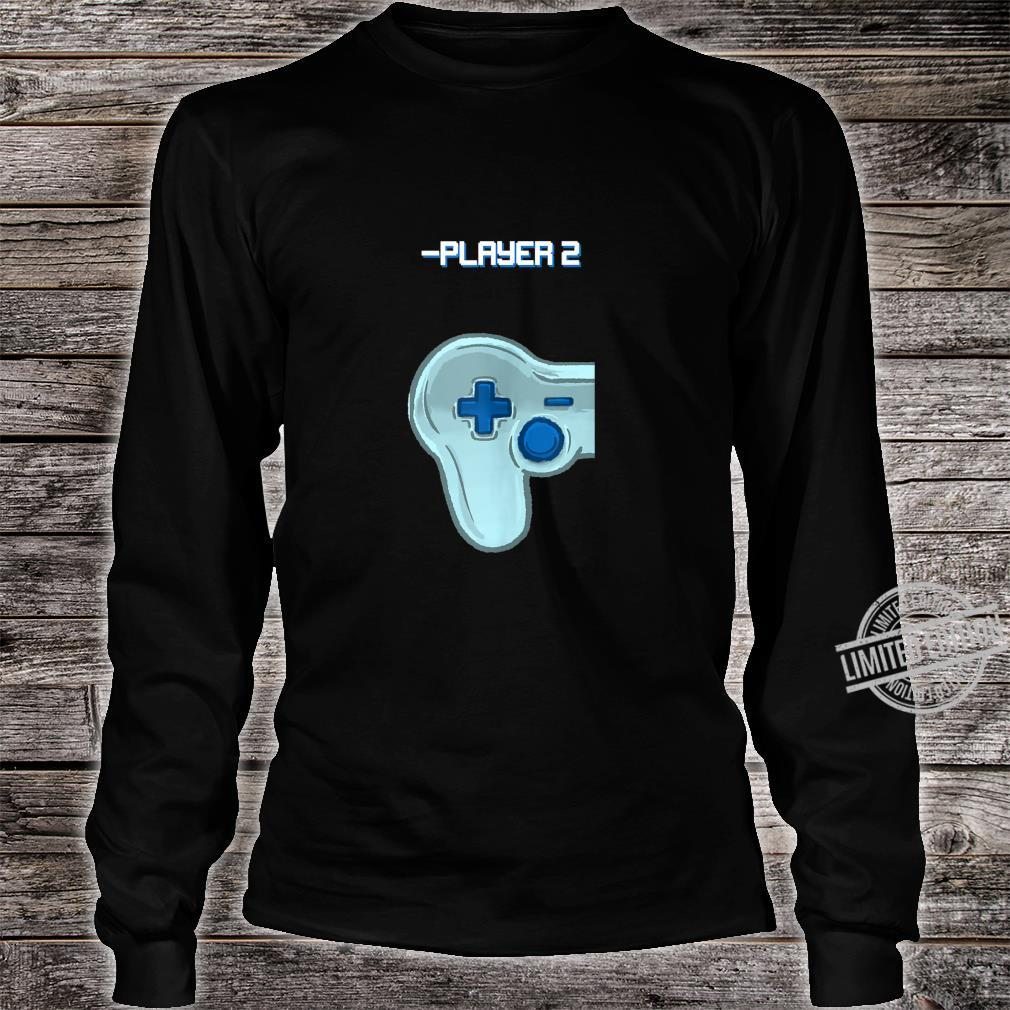 Player Two Matching Controller Video Game Best Friend Shirt long sleeved