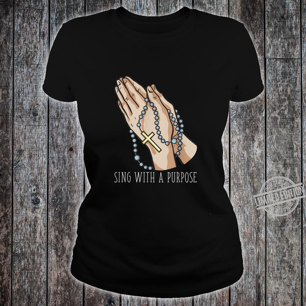 Playlist Rosary Sing with a Purpose Church Shirt ladies tee