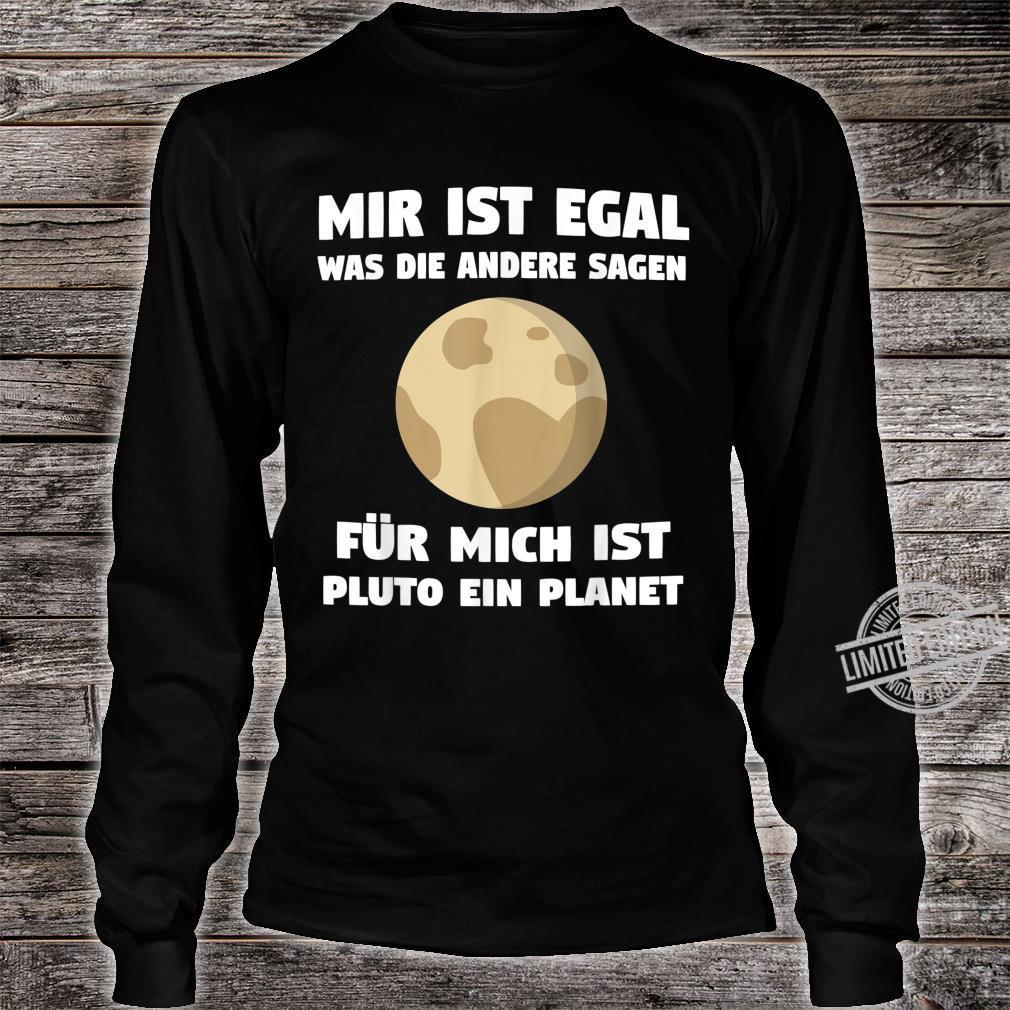 Pluto Planet Zwergplanet Sonnensystem Planeten Geschenk Shirt long sleeved