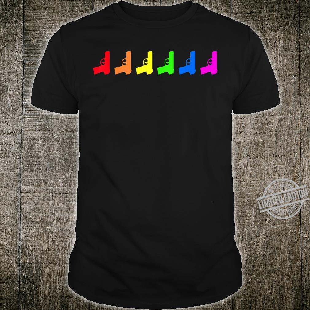 Pride LGBT Guns Rifles Proud LGBT Flag Gay Lesbian Shirt
