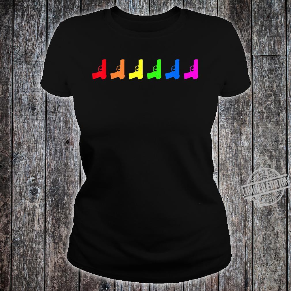 Pride LGBT Guns Rifles Proud LGBT Flag Gay Lesbian Shirt ladies tee