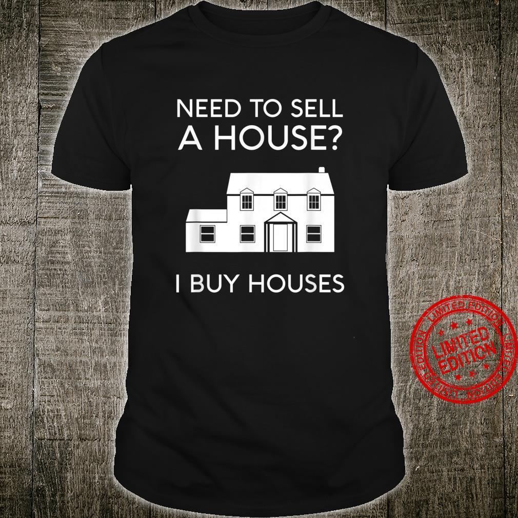 Real Estate Agent Investor Mortgage Broker Lender Sell House Shirt