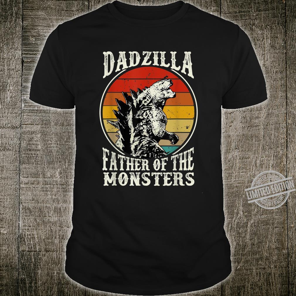 Retro Dadzilla Father Of The Monsters Father's Day Shirt