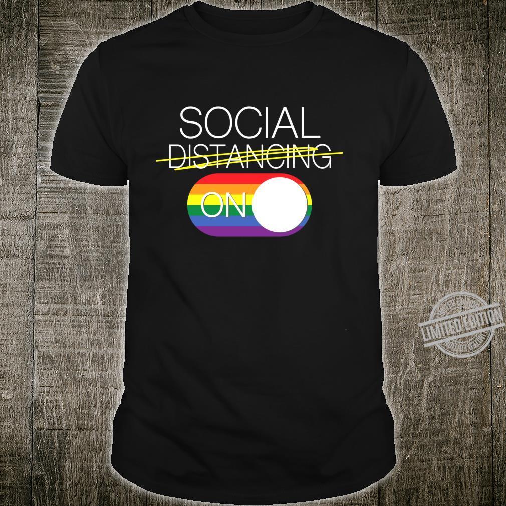 SOCIAL DISTANCING PRIDE Langarmshirt Shirt
