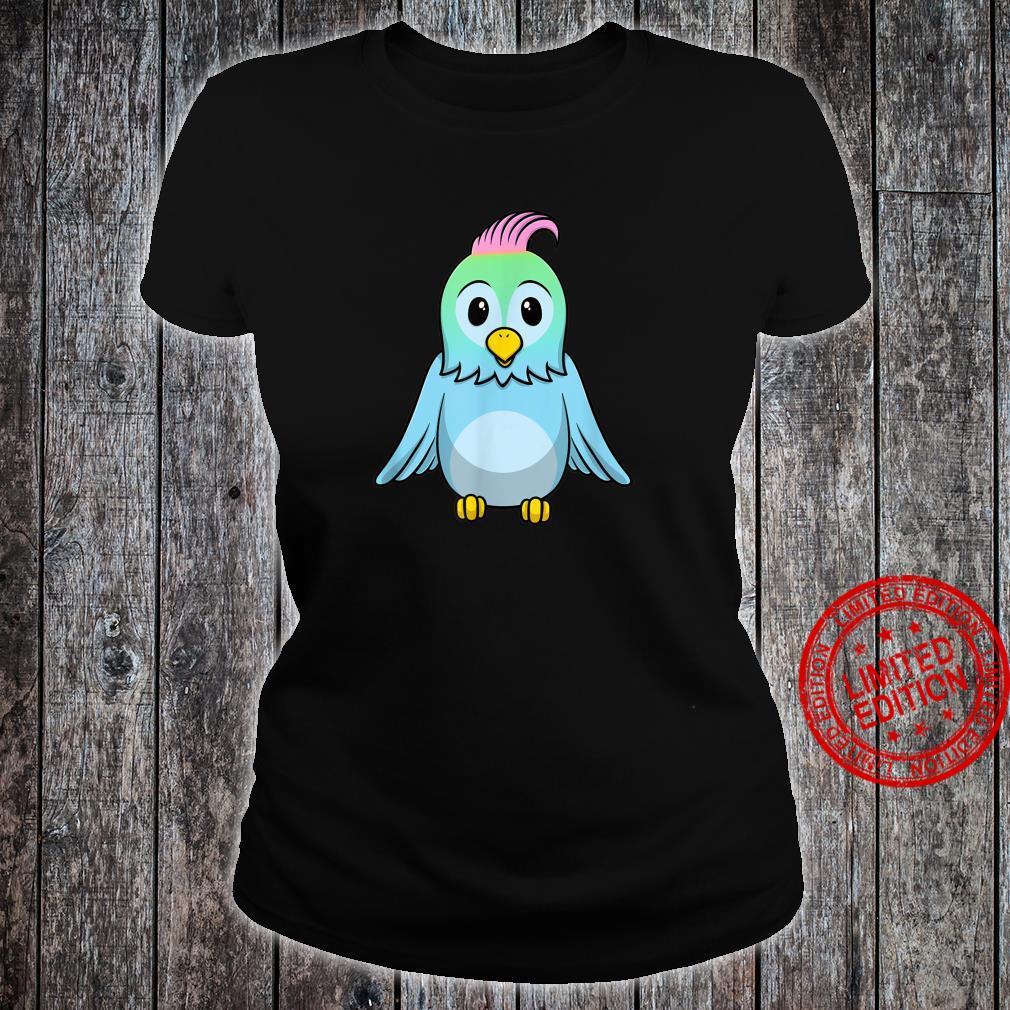 Süßer Blauer Baby Vogel Shirt ladies tee