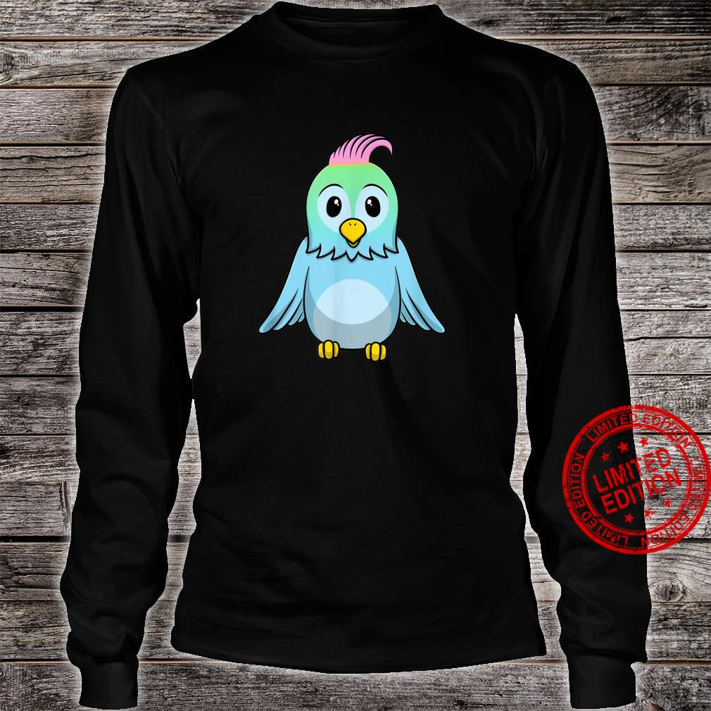 Süßer Blauer Baby Vogel Shirt long sleeved