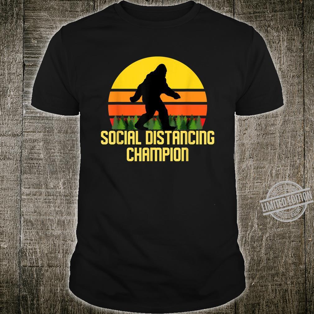 Social Distancing Champion Bigfoot Shirt