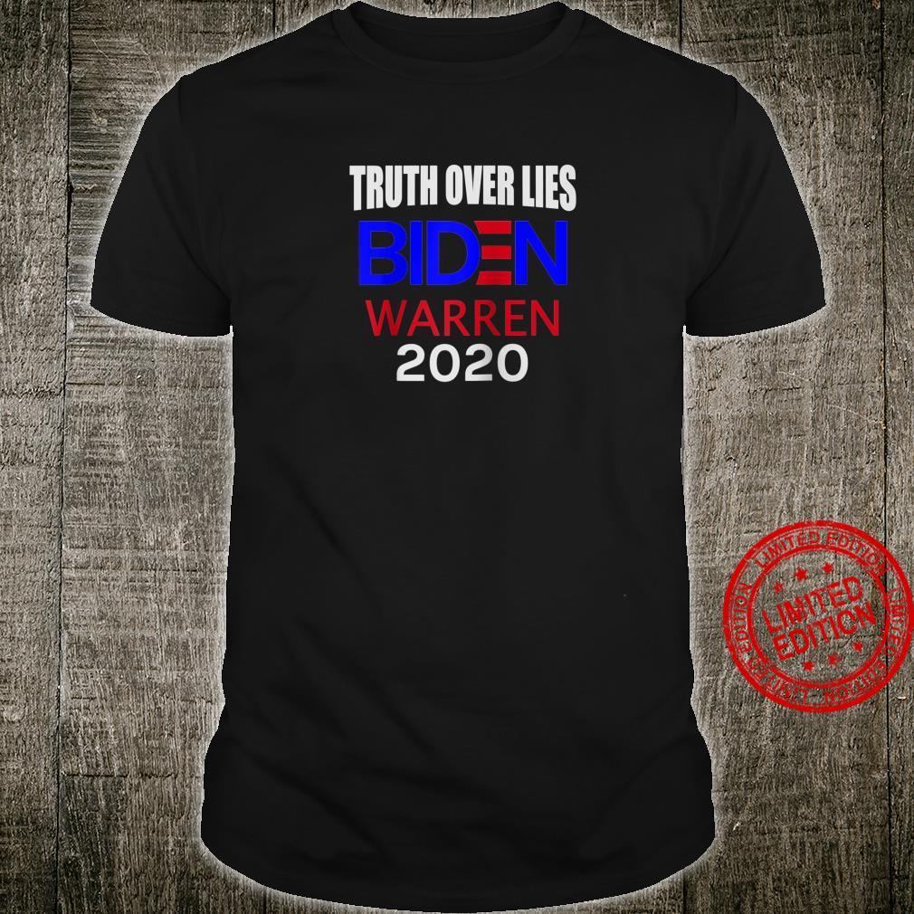 Truth Over Lies President Biden Vice President Warren Shirt