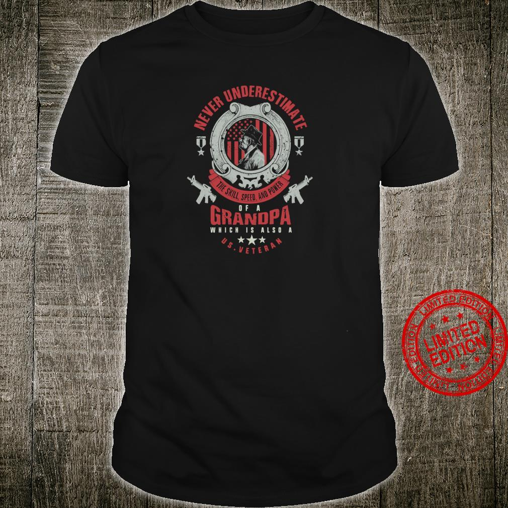 US Veteran Grandpa Distressed Retro Shirt