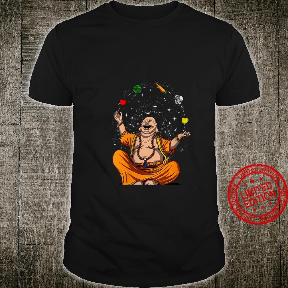 Womens Buddha Vegan Juggling Vegetables Zen Yoga Meditation Namaste Shirt