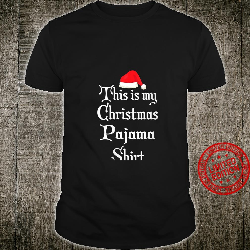 Womens This Is My Christmas Pajama Christmas Morning Shirt